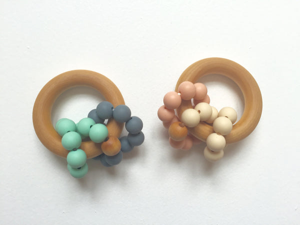 Wee Rings Teether | Grey-Mint