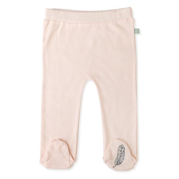 Footed Pants | Pink Feather