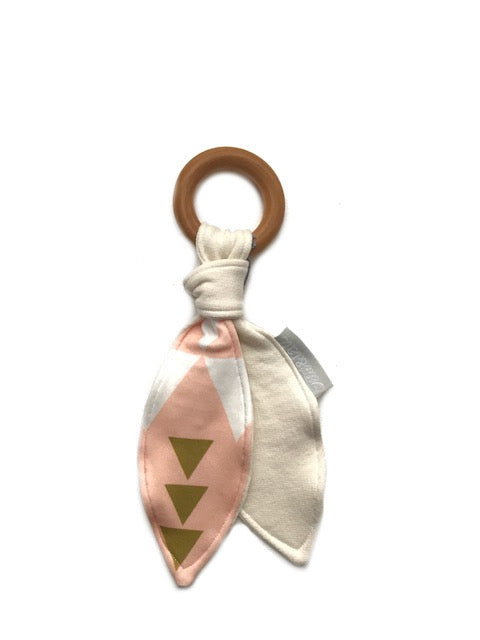 Organic Wood Teether | Pink Triangle