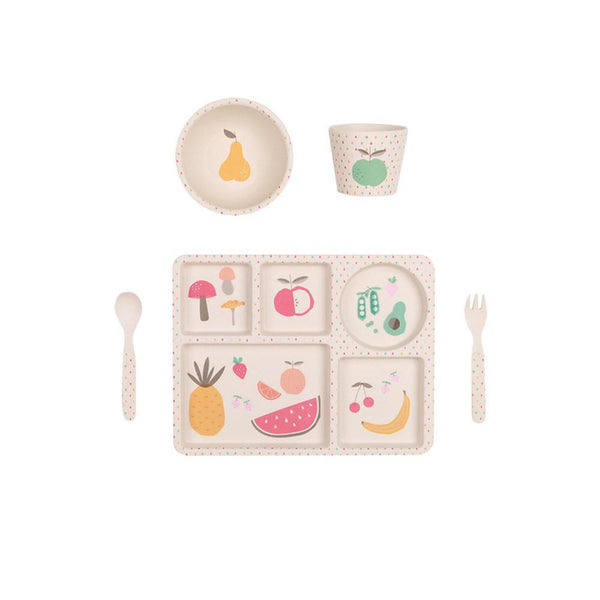 Bamboo 5 Piece Dinner Set | Eat Your Greens