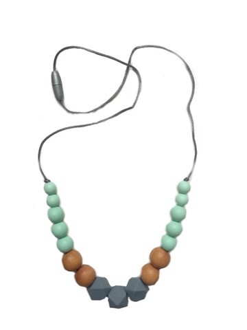 New Horizon Necklace | Grey-Mint