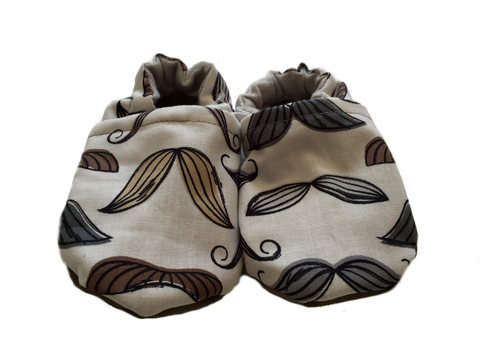 Baby Moccasins | Mustache