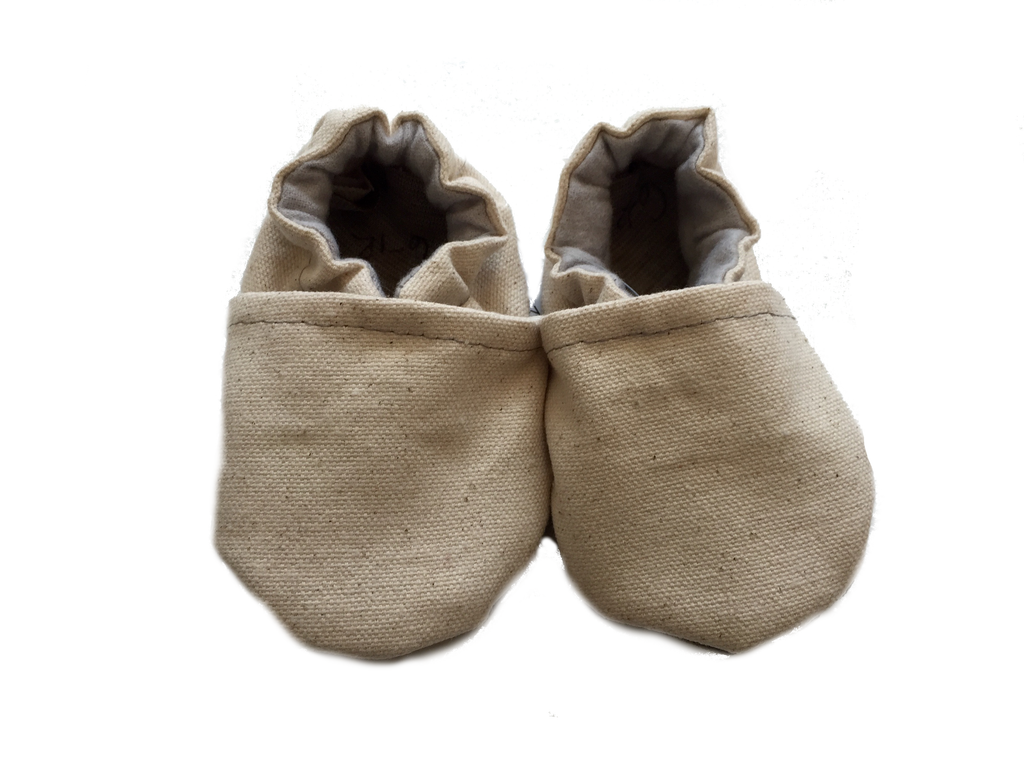 Baby Moccasins | Natural Canvas