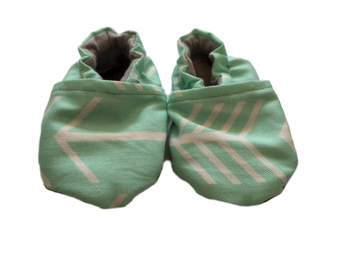 Baby Moccasins | Teal Arrow