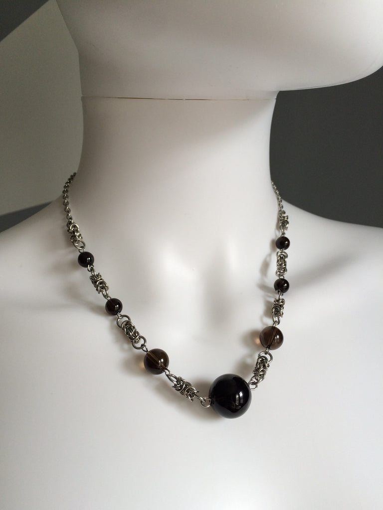 Graduated Smoky Quartz Necklace