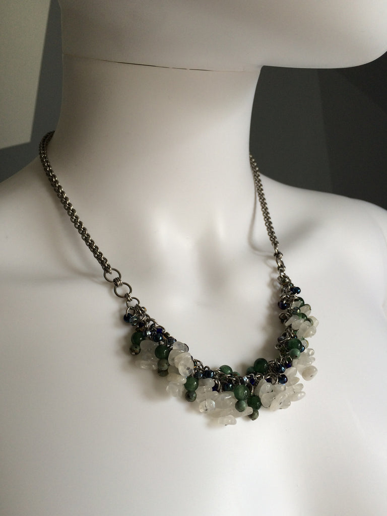 Beaded Clusters Necklace - Large