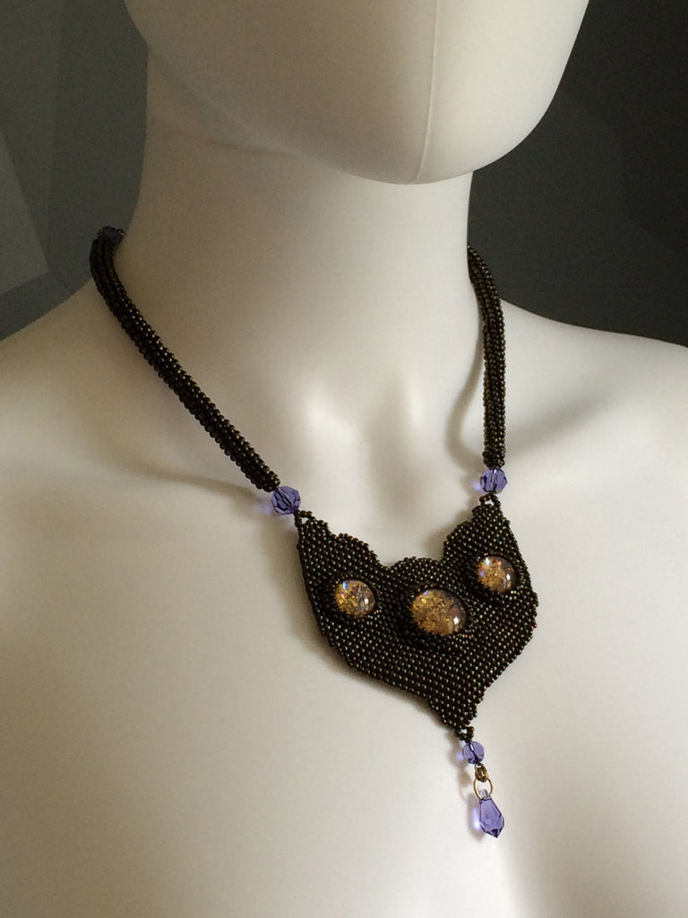 Opalescent Beaded Neckpiece
