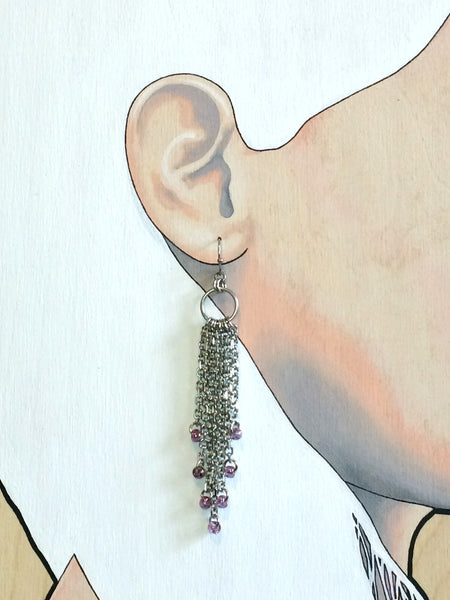 Rain Earrings with Beads