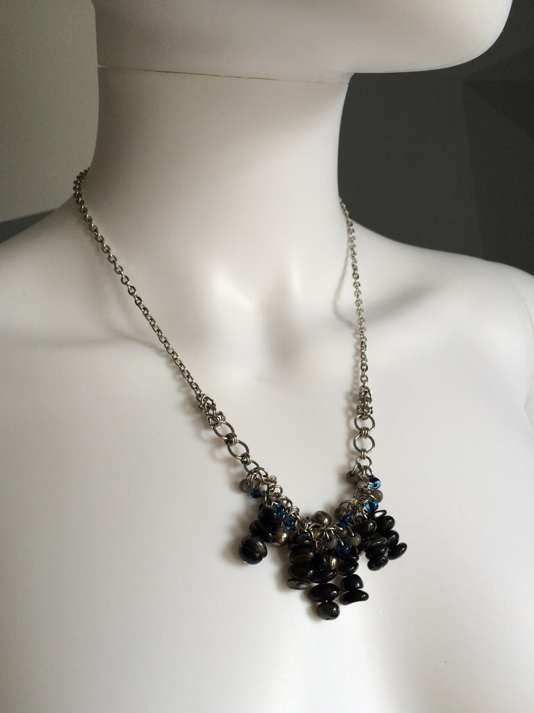 Beaded Clusters Necklace - Small