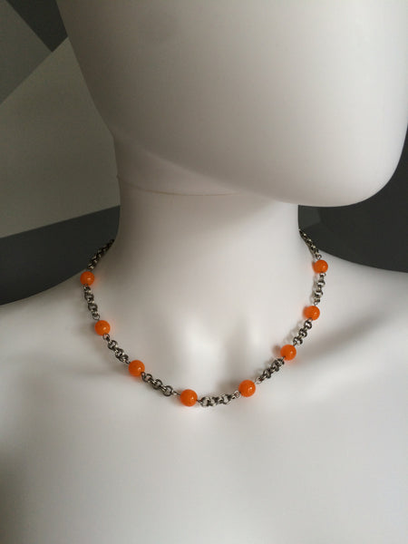 Stainless Steel Orangsicle Necklace