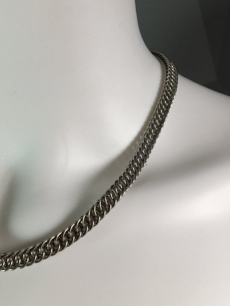 Stainless Steel Railroad Necklace