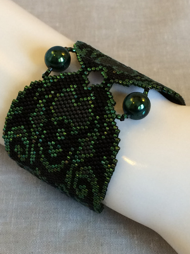 Beaded Wing Bracelet - Poison