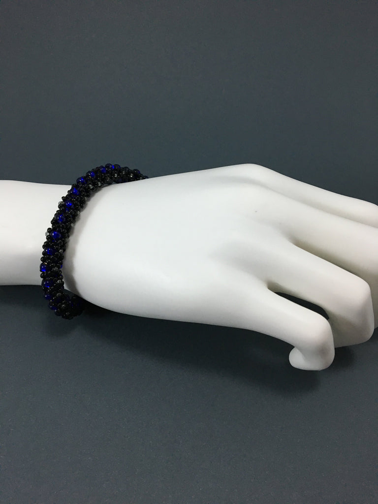 Right Angle Bangle - Black and Cobalt