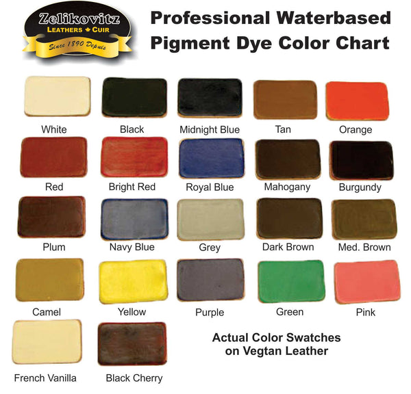 Zeli Waterbased Color Chart