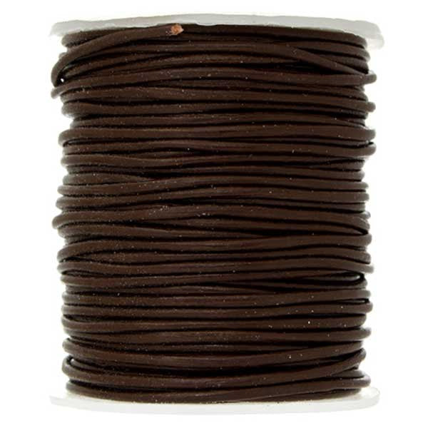 Image of 75123119-02 - 0.5mm Brown Leather Cord 25 Meters