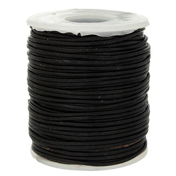1.0mm Round Leather Cord - 25 meters - 3 Colors