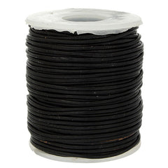 Image of 5053-01 - 1.0mm Black Leather Cord 25 meters