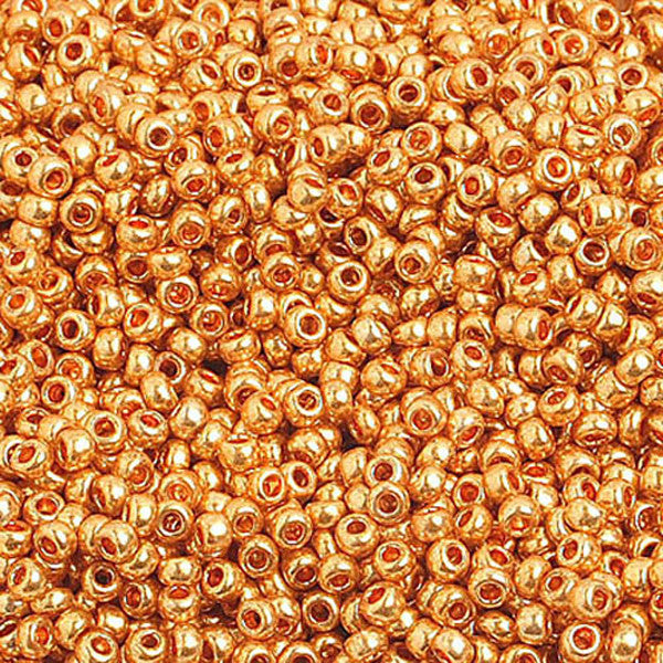 10/0 Metalic Gold Czech Seedbeads 40 grams