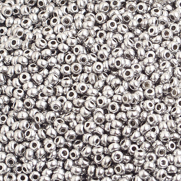 10/0 Metallic Silver Czech Seedbeed 40 Grams