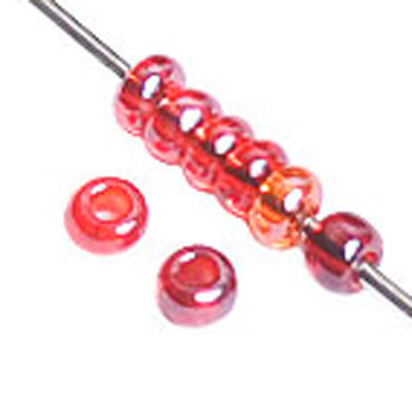 Image of 65001603 - 10/0 Mix Red Lustered Czech Seedbeads 40 grams