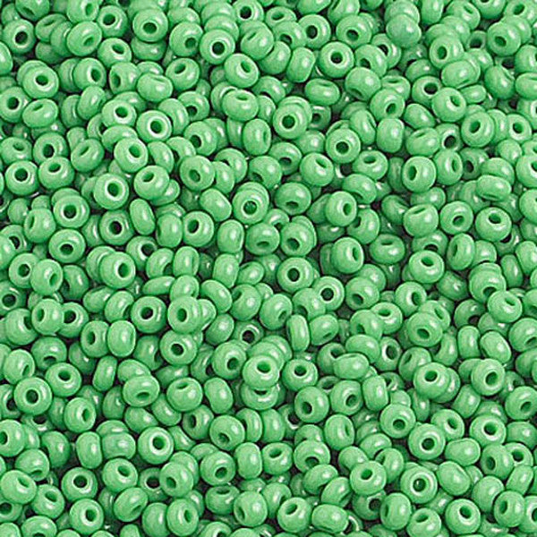 Image of 65001018 - 10/0 Op. Medium Green Czech Seed Beads   40 grams