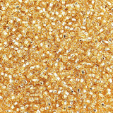 Image of 65001294-01 - 10/0 Silver Lined Lite Gold Czech Seedbead 40 gms