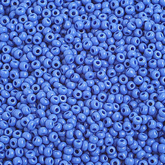 Image of 65001006 - 10/0  Op. Medium Blue Czech Seed Beads   40 grams