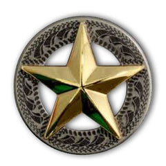 3-D Texas Star Concho - 2 Sizes