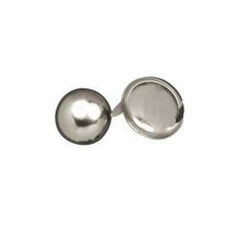 "Image of 1330-00 - 1/4"" Flat Round Spots Nickel Plated"