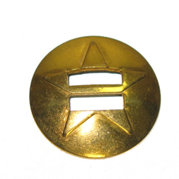 Star Slotted Concho Solid Brass & Stainless Steel - 3 Sizes