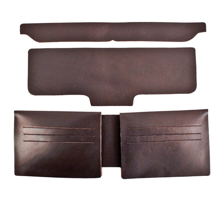 New Realeather Credit Card Wallet Liner - Black and Brown