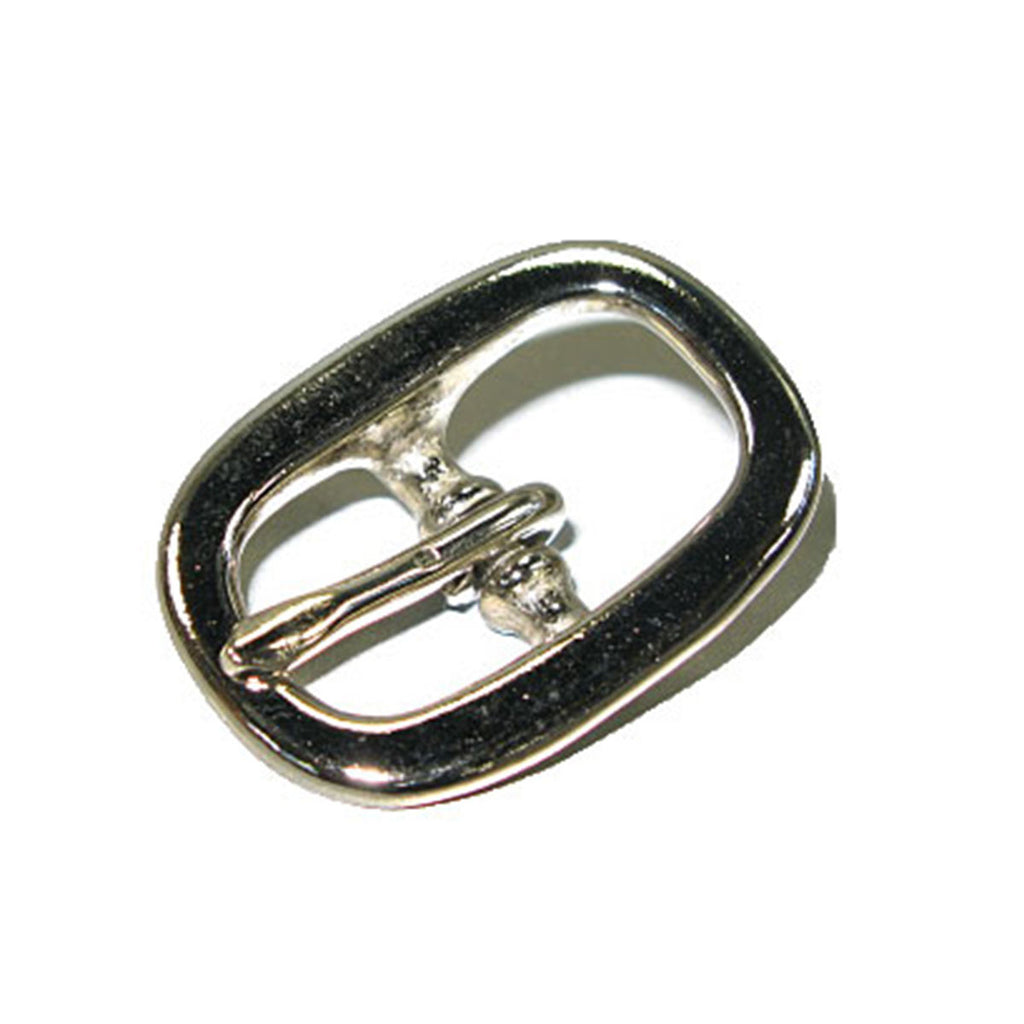Oval Bridle Buckle Solid Brass/Nickel Plated - 2 Sizes