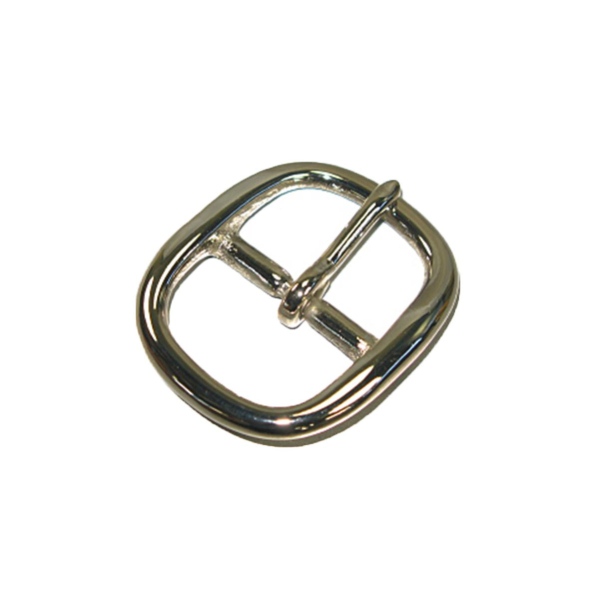 Center Bar Buckle Solid Brass/Nickel Plated - 3 Sizes