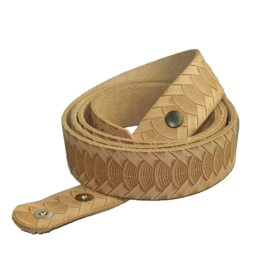 "1-1/2"" Embossed Reptile Weave Belt Blank"