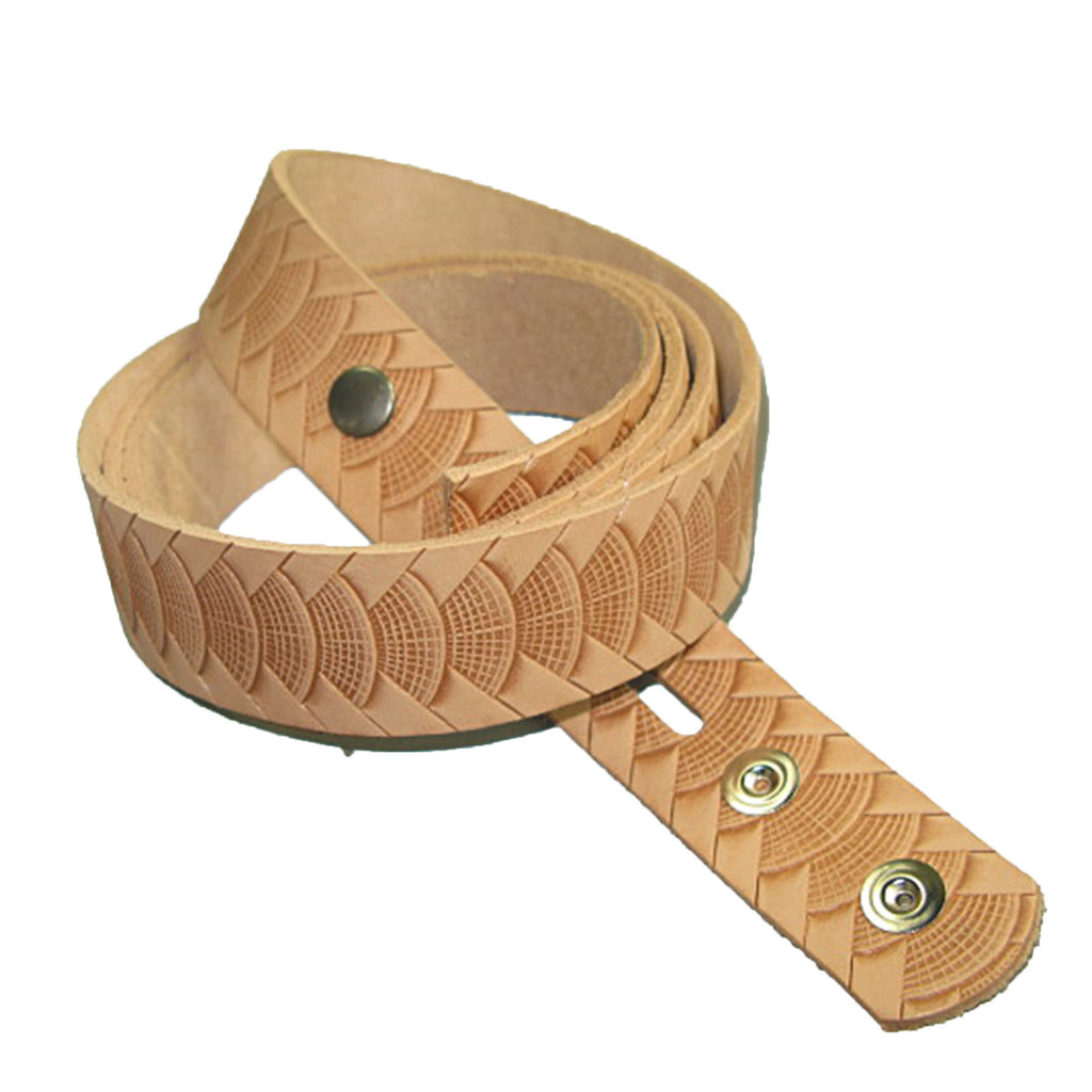 "1-1/4"" Embossed Reptile Weave Belt Blank"