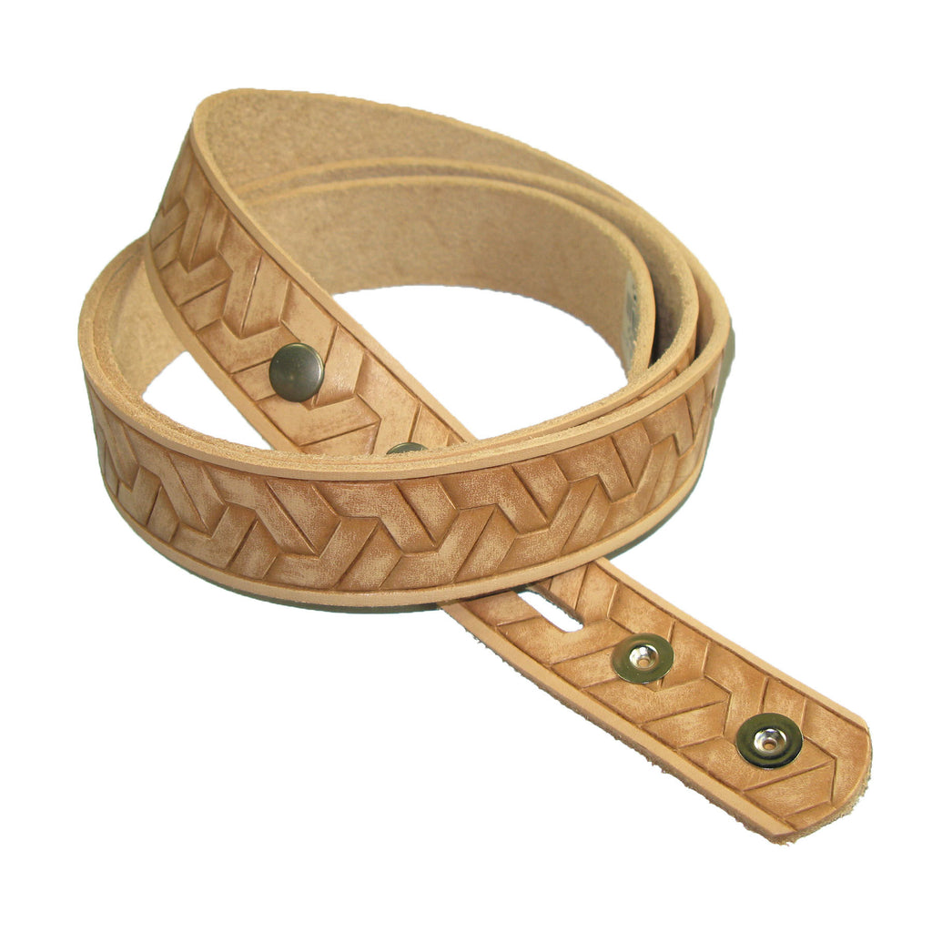 "1-1/2"" Embossed Geometirc Weave Belt Blank"