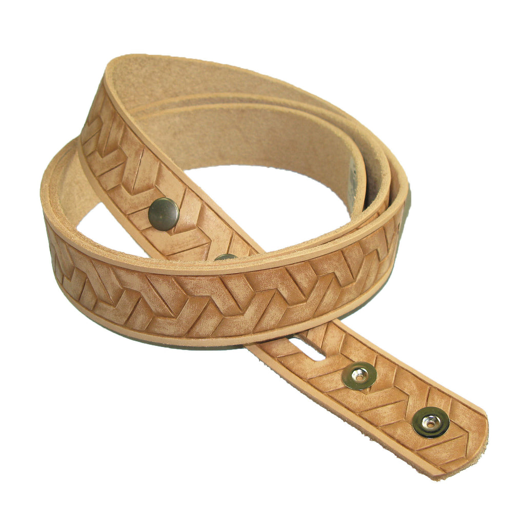 "1-1/4"" Embossed Geometric Weave Belt Blank"