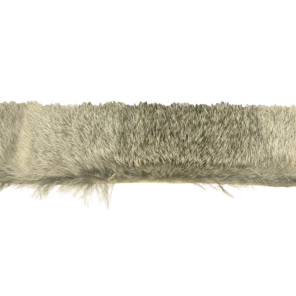 Rabbit Fur Trim Stripping - Chinchila Grey