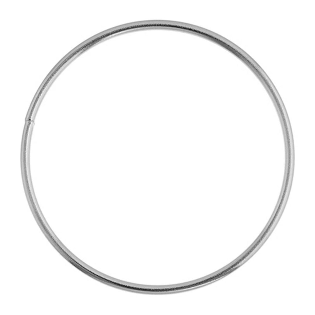 "Metal Hoop Ring Silver 1"" (25mm) Nickel - 10 Pack"