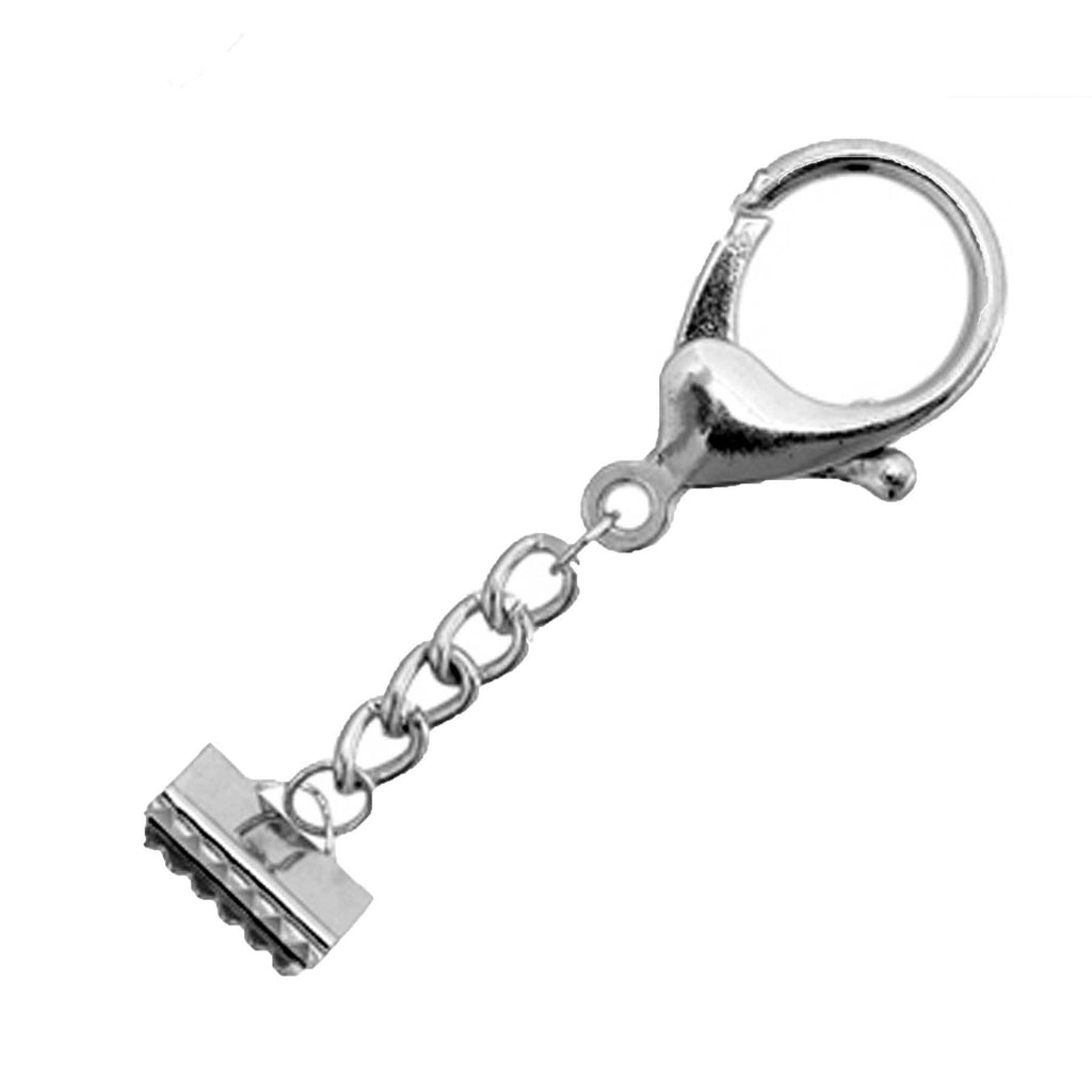 Key Chain-Lobster Trigger with Ribbon Cord End 15x9mm Nickle