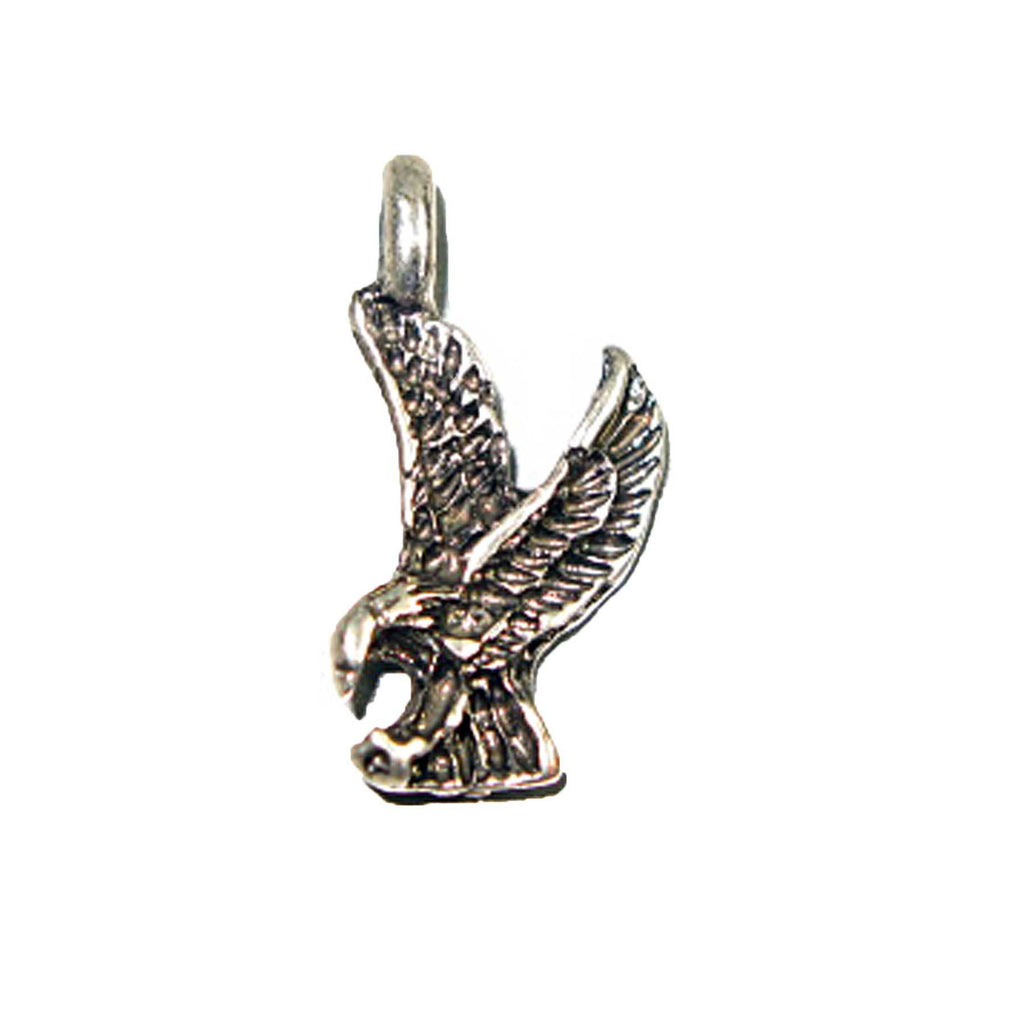 Pendant - Eagle Landing Antique Silver Lead Free Nickel Free