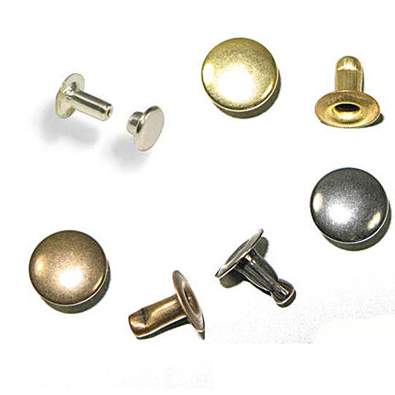 Rapid Rivets Large 9mm Cap 8mm Post - 4 Colors (3408)