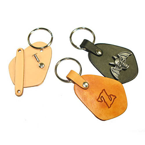 Key Fob Kit - Vegetable Tanned Tooling Leather with Key Ring and Rivet