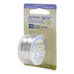 Image of AWD-18S-10-04YD - 18g Wire Silver Plated 4 Yards