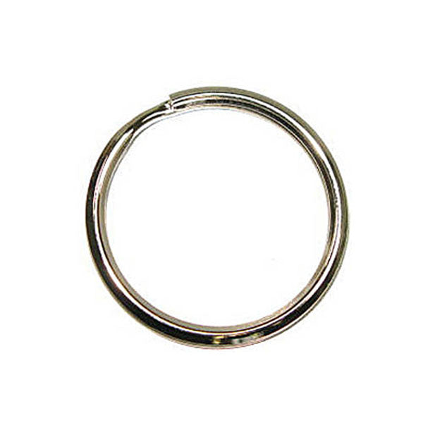 "1-1/8"" Split Key Ring/Beveled  100Pk"