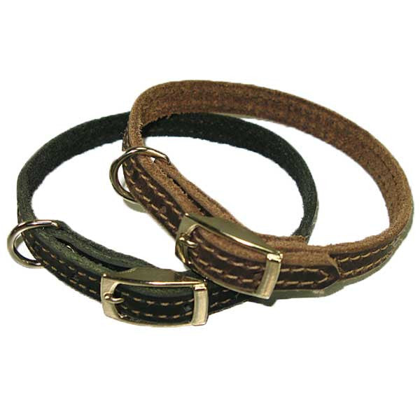 "Image of 18-70001 - 1/2"" Leather Dog Collar"