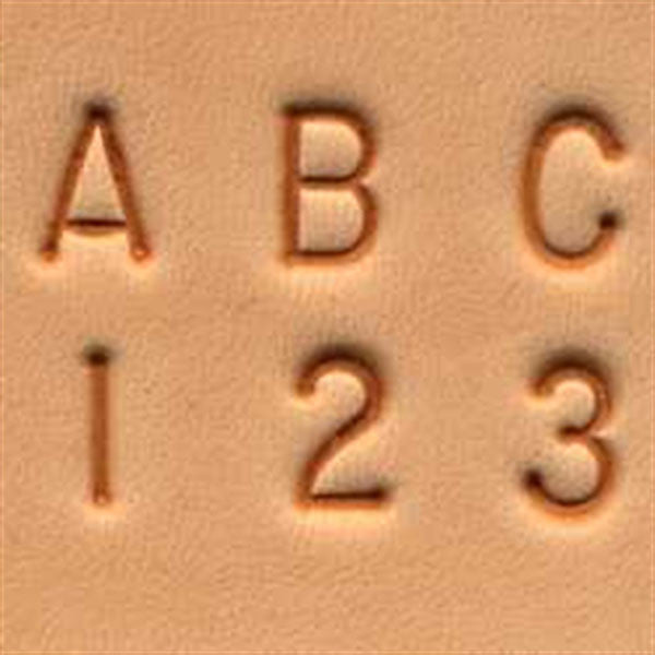 "1/4"" Alphabet & Number Set 8137-00"