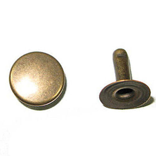Rapid Rivets XL 11mm Cap 10mm Post Antique Brass speedy