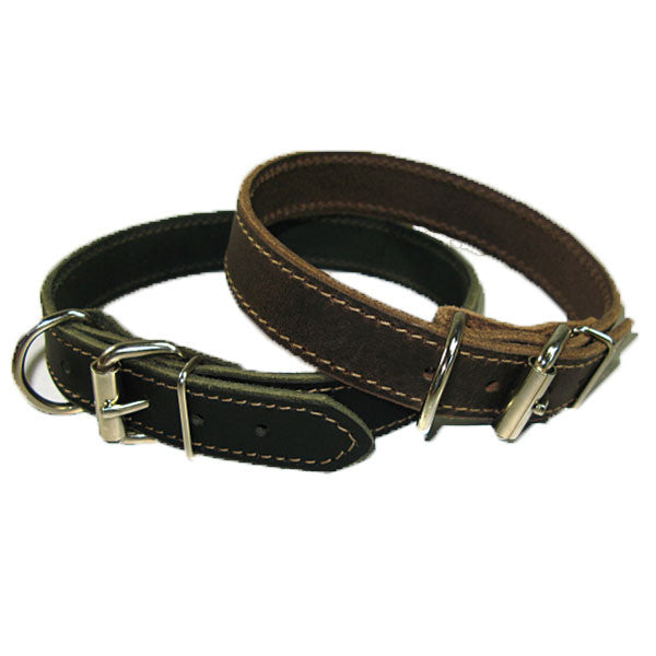 "1"" Leather Dog Collar"
