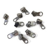 YKK #5 Metal Aluminum Sliders Zipper Hardware Silver - 10 Pack